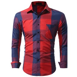 Casual Lapel Pocket Slim Single-Breasted Shirt