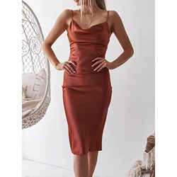 Knee-Length Sleeveless Backless Pullover Women's Dress