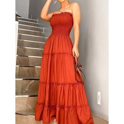 Floor-Length Sleeveless Fashion Women's Dress