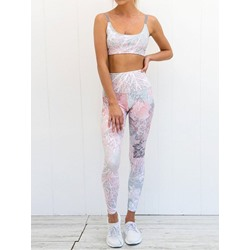 Floral Yoga Ankle Length Clothing Sets