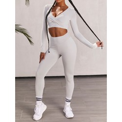 Anti-Sweat Solid Running Long Sleeve Clothing Sets