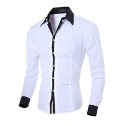 Casual Color Block Lapel Spring Single-Breasted Shirt