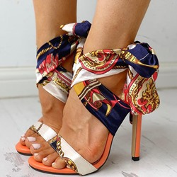 Shoespie Stylish Stiletto Heel Pointed Toe Strappy Western Sandals