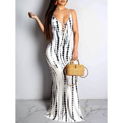 Floor-Length Sleeveless Print Pullover Spaghetti StrapWomen's Dress