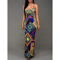 Split Sleeveless Floor-Length Bodycon Women's Dress