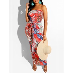Ankle-Length Print Sleeveless Sexy Women's Dress