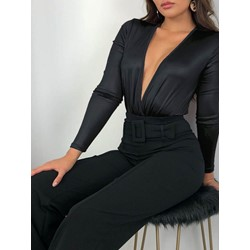 Western Shorts Plain Slim Women's Jumpsuit