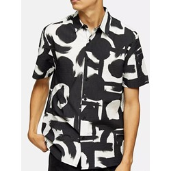 Casual Print Lapel Summer Single-Breasted Shirt