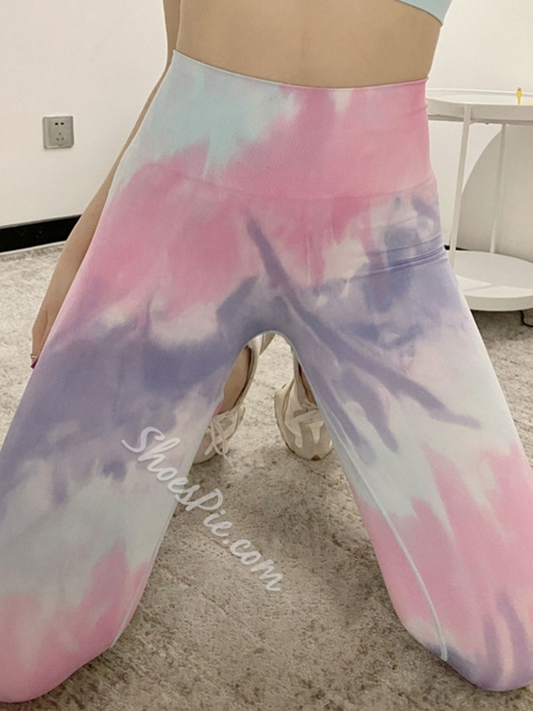 Breathable Color Block Ankle Length Spring Pants