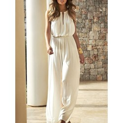 Patchwork Plain Western Wide Legs Women's Jumpsuit