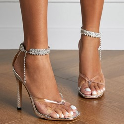 Shoespie Sexy Stiletto Heel Thong Line-Style Buckle OL Sandals