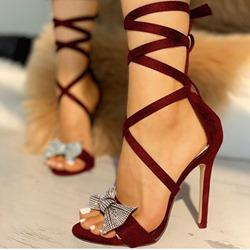 Shoespie Sexy Lace-Up Ankle Strap Open Toe Plain Sandals