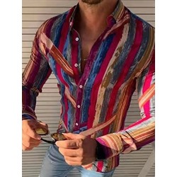 Print Casual Slim Fall Shirt