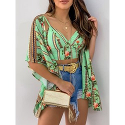 Fashion Print Floral Women's Two Piece Sets