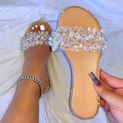 Shoespie Trendy Flip Flop Slip-On Beads Spring Slippers