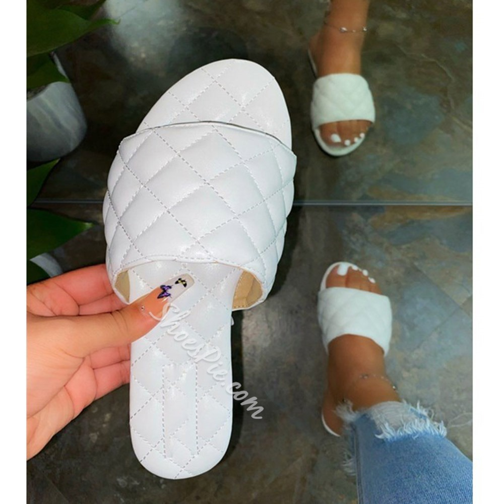 Shoespie Sexy Flat With Thread Toe Ring Rubber Slippers