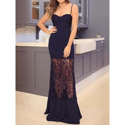 Sleeveless Floor-Length See-Through Bodycon Women's Dress