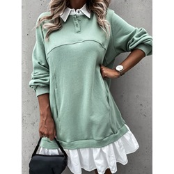 Long Sleeve Above Knee Pocket Fall Women's Dress