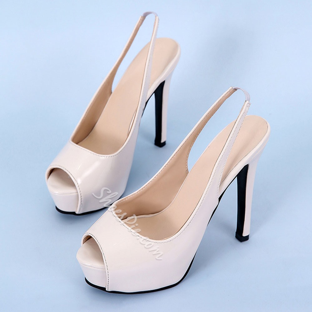Shoespie Stylish Peep Toe Slingback Strap Slip-On Professional Sandals