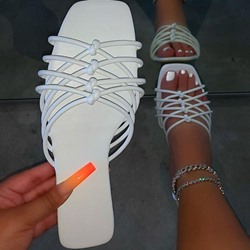 Shoespie Sexy Toe Ring Flat With Candy Color Casual Slippers