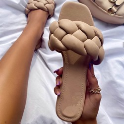 Shoespie Stylish Flat With Woven Toe Ring Summer Slippers