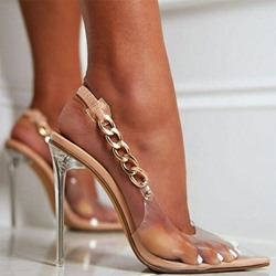 Shoespie Sexy Pointed Toe Slingback Strap Stiletto Heel Professional Sandals