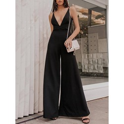 Western Patchwork Full Length Wide Legs Women's Jumpsuit