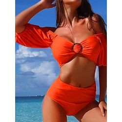 Fashion Plain Summer Women's Swimwear