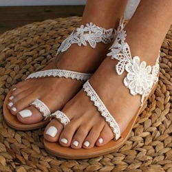 Shoespie Stylish Thong Flat With Slip-On Plain Sandals