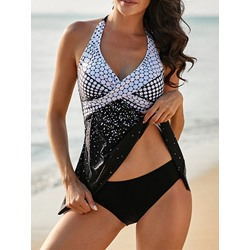 Geometric Print Fashion Women's Swimwear