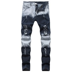 Pencil Pants Worn Zipper European Jeans