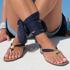 Pre-sale Sexy Lace-Up Thong Western Sandals