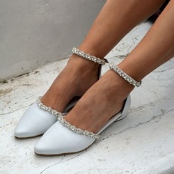 Pre-sale Trendy Flat With Line-Style Buckle Closed Toe OL Thin Shoes