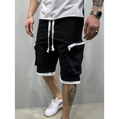Straight Lace-Up Plain Fall Mid Waist Casual Pants