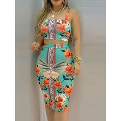 Patchwork Western Floral Women's Two Piece Sets