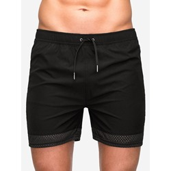 Slim Plain Lace-Up Casual Mid Waist Shorts