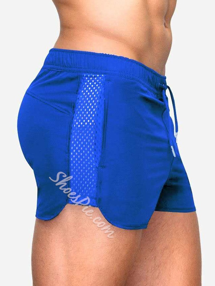 Lace-Up Animal Slim Casual Mid Waist Shorts