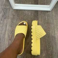 Shoespie Trendy Thread Slip-On Platform Summer Slippers