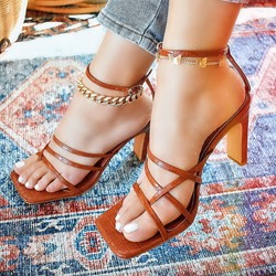 Shoespie Sexy Chunky Heel Buckle Thong Western Sandals