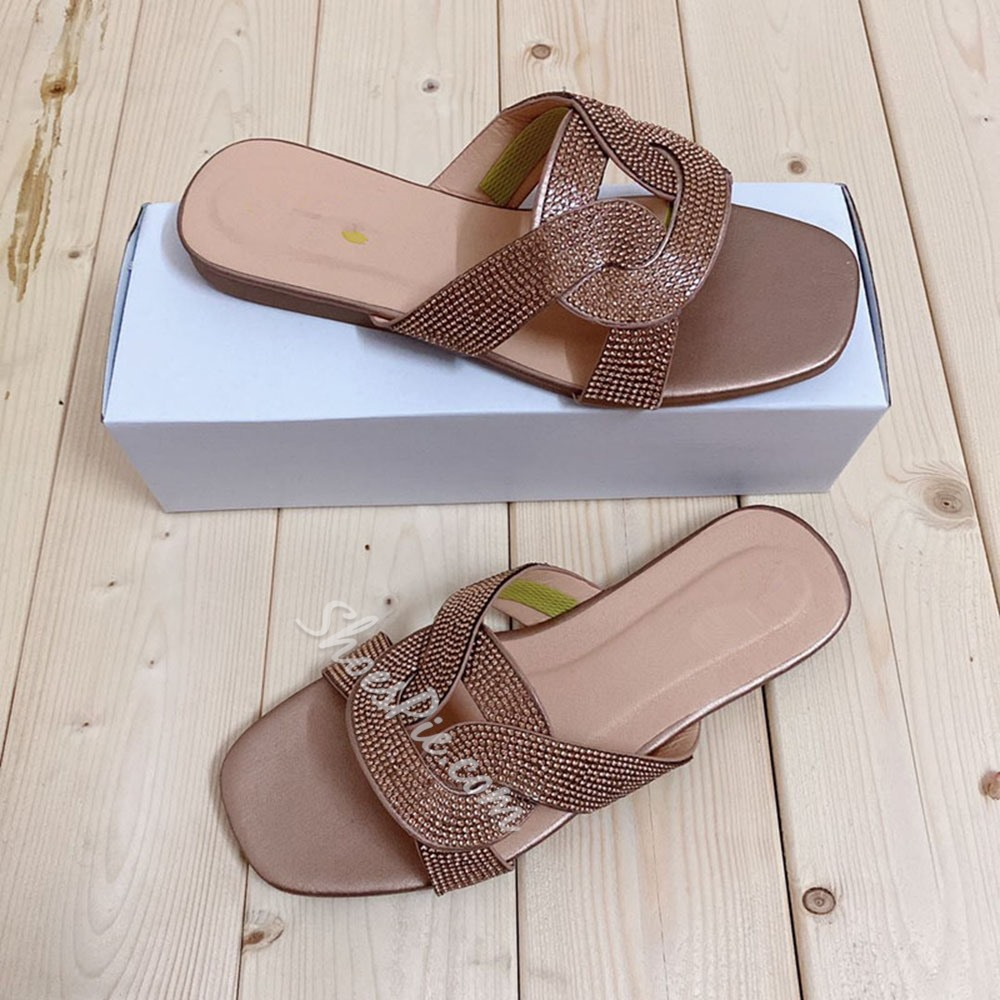 Shoespie Stylish Toe Ring Flat With Slip-On Beach Slippers