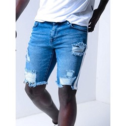 Gradient Embroidery Straight European Zipper Jeans