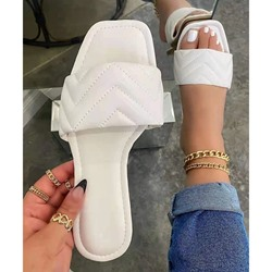 Shoespie Trendy Flip Flop Thread Flat With Rubber Slippers