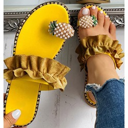 Shoespie Stylish Slip-On 3D Thong Casual Slippers
