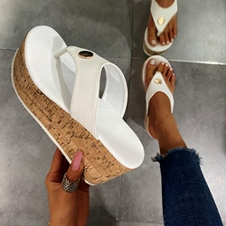 Shoespie Stylish Thong Slip-On Thread Western Slippers