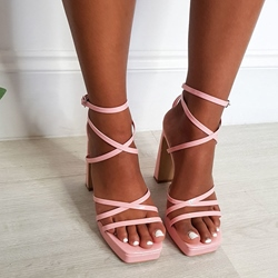 Shoespie Sexy Open Toe Buckle Ankle Strap High-Cut Upper Sandals