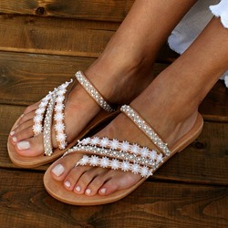 Shoespie Stylish Slip-On Thong Flat With Casual Slippers
