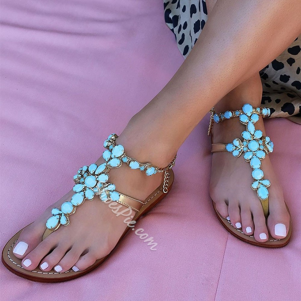 Shoespie Sexy Thong Buckle Casual Sandals