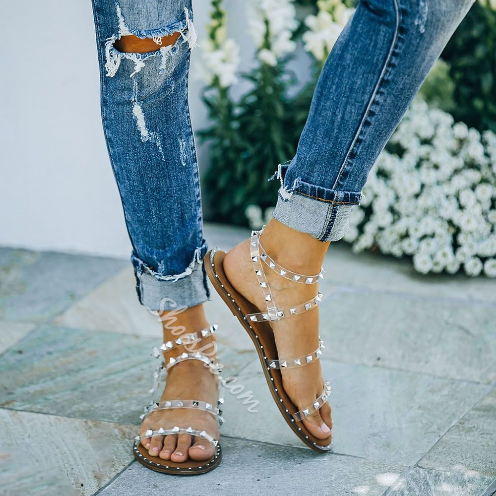 Shoespie Trendy Buckle Round Toe Casual Sandals