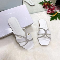 Shoespie Stylish Flip Flop Flat With Slip-On Patchwork Slippers