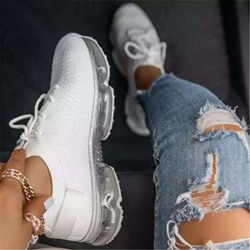 Shoespie Sexy Cross Strap Lace-Up Round Toe Plain Sneakers